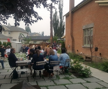 Green Drinks goes outside for our first summer garden party