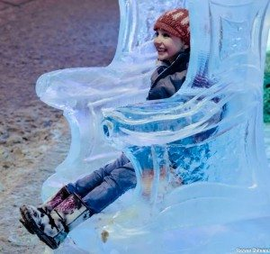 Ice sculptures on 124 Street during All is Bright in November 2013. Photo: Razvan Theodor Ghiteanu, courtesy 124 Street Business Association