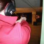Manda's first time shooting at Wild West Shooting Range.