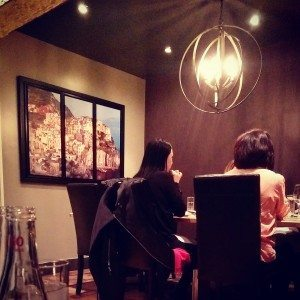 The Cibo nook. Perfect for a small gathering. Photo by Crystal Lee.