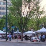 Night Market Edmonton on Jasper Ave. & 105 St. Photo by Crystal Lee.