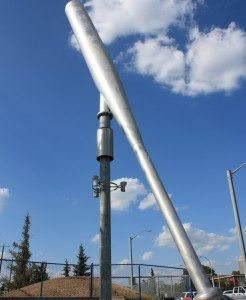 The city's famed spinning baseball bat. Photo: Lisa Catterall