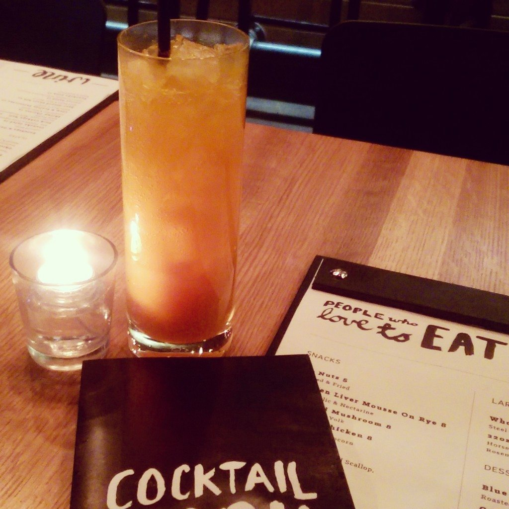 Menus and a cocktail at North 53. Photo: Crystal Lee