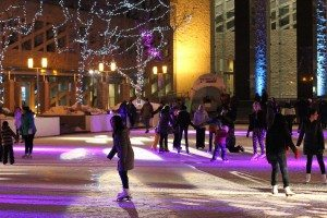 Edmonton City Hall outdoor rink