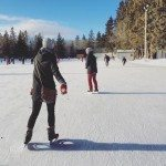 A beautiful day over the holidays to go skating at the Victoria Oval.  Photo cred: Leila Fanaeian @leilasaurus