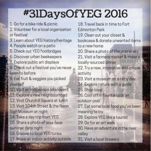 Our annual #31DaysOfYEG challenge provides you with new ways to explore Edmonton. Photo illustration: Ally Whittaker & Arielle Demchuk.