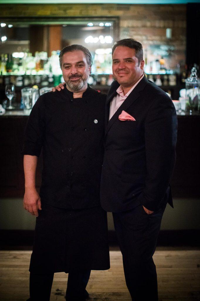 Co-owners Chef Lino Oliveira and Christian Mena at Sabor. <em>Photo: Jamie Tweedy.</em>
