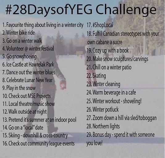#28DaysOfYEG Challenge